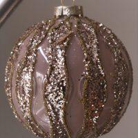 Grote luxe roze kerstbal Adiva