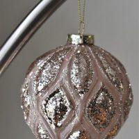 Grote luxe roze kerstbal Bahira