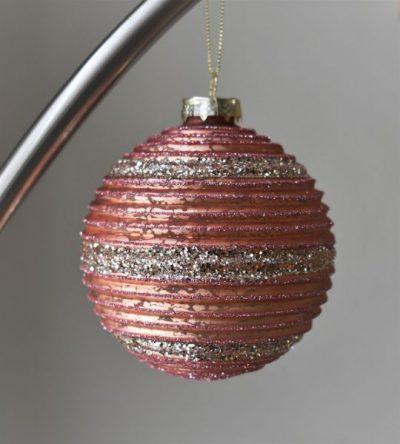 Grote luxe roze kerstbal Cimara