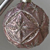 Grote luxe roze kerstbal Elmira