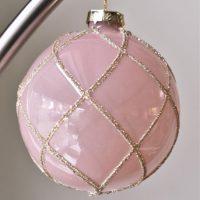 Grote luxe roze kerstbal Farah
