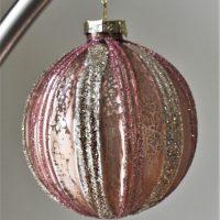 Grote luxe roze kerstbal Hind