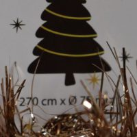 Kerstboom slinger brons