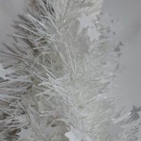 Kerstboom slinger wit met ster