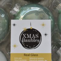 Groene glazen kerstballen megabox